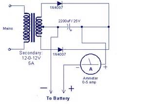 battery charger circuit make a 12v battery charger at home