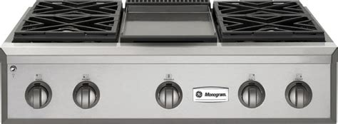 gas cooktop with grill 36 ge monogram 36 quot professional gas rangetop with 4 burners