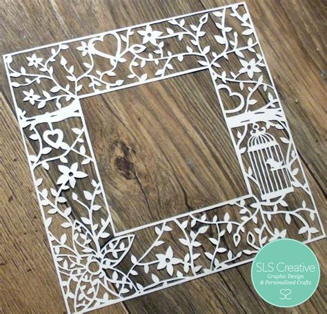 floral flame wedding paper cut template fait en papier