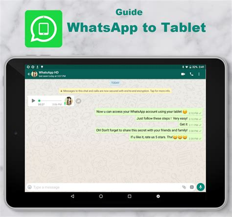 guide whatsapp to tablet 4 6 apk android - Tablet Whatsapp Apk