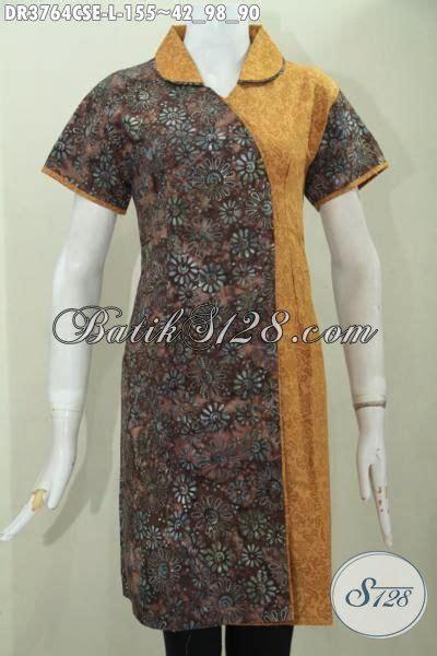 Ld Cap Smok Baju Batik Baju Batik Kantor jual dress batik model terkini kombinasi dua motif