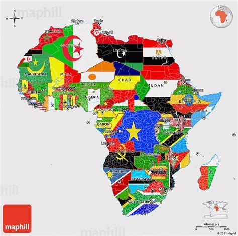 d maps africa flag 3d map of africa