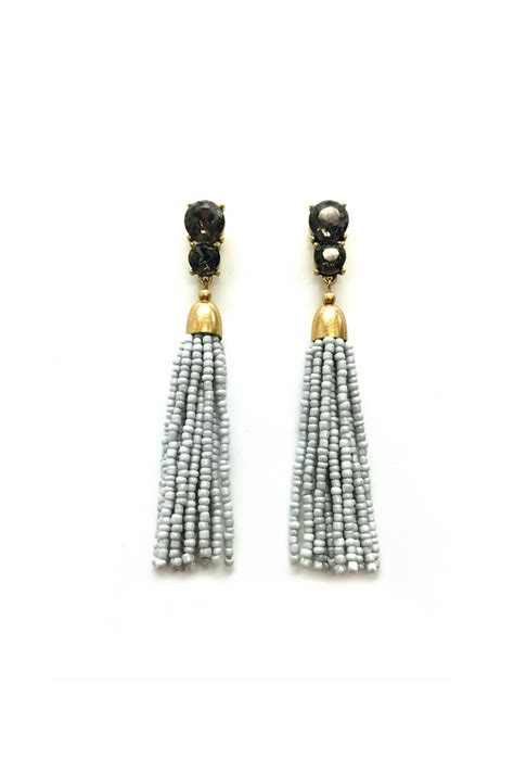 seed bead tassel earrings jchronicles seed bead tassel earring from shoptiques