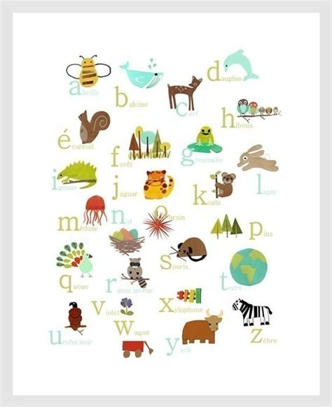 Alphabet Picks etsy alphabet poster 동물