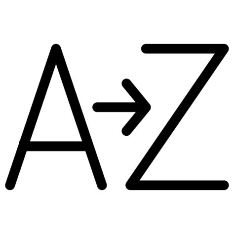 the a z a z icon line iconset iconsmind