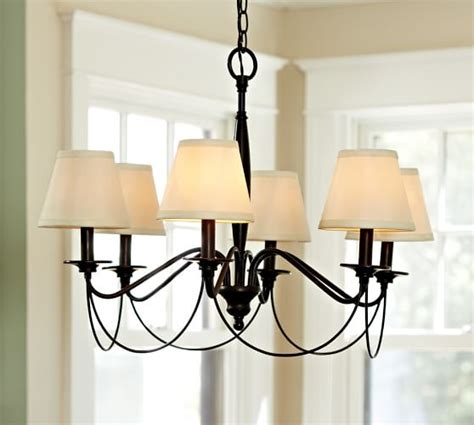 dining room chandeliers with l shades pb basic silk chandelier shade set of 3 pottery barn