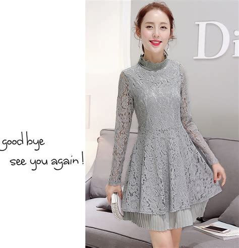 Blouse L Fit Xl Sarisa Grey Rubiah Furing Limited premium korea lace dress ds4179 gray tamochi