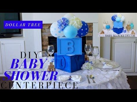 Do It Yourself Baby Shower Centerpieces by Dollar Tree Diy Baby Shower Decor Diy Boy Baby Shower