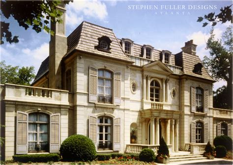 Neoclassical Houses | a french neoclassical house in atlanta