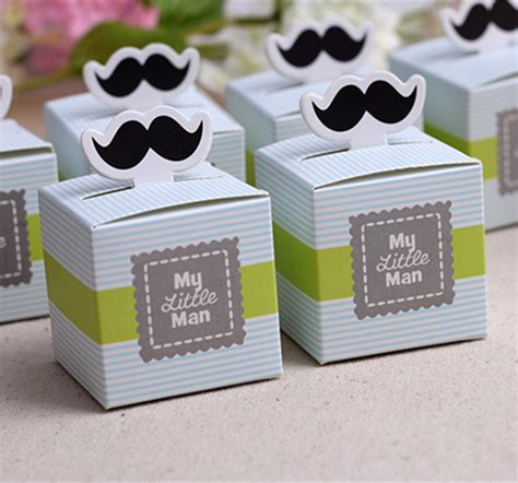 Baby Boy Souvenirs And Giveaways - 100pcs cute mustache birthday boy baby shower favors kids party decorations baby