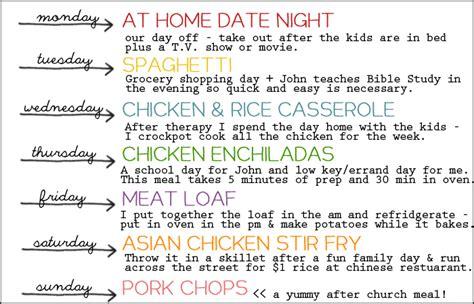 easy at home diet plans simple meal planning for the week 187 lauren casper