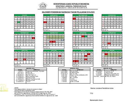 kalender pendidikan ramadrasah  dirjen pendis ayo madrasah