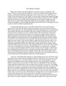 Compare And Contrast Essay Sample Compare And Contrast Essay Middle School Examples
