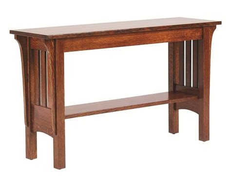amish sofa table amish mission deluxe sofa table