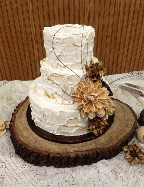 wedding cake rustic treasury item 22 quot x 24 quot rustic oak tree slice rustic wedding cake