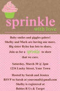 sprinkle baby shower cupcake invitation template by luckybean33