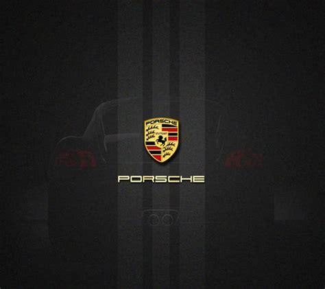 porsche logo black background porsche logo wallpaper for android 187 automobile wallpaper