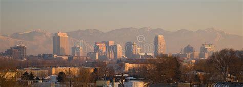 panoramic scenic landscape salt lake city utah downtown