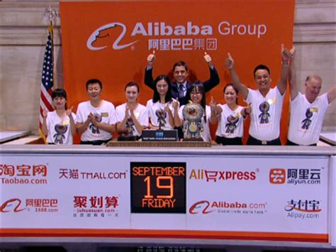 alibaba ipo alibaba testing it all time high 120 00 market news