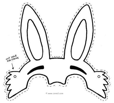 easter hat template printable easter bunny outline cliparts co