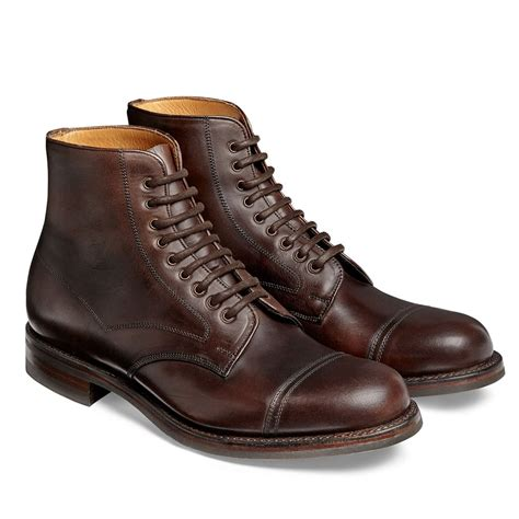 R A Shoes Leather cheaney jarrow r s leather country derby boot made