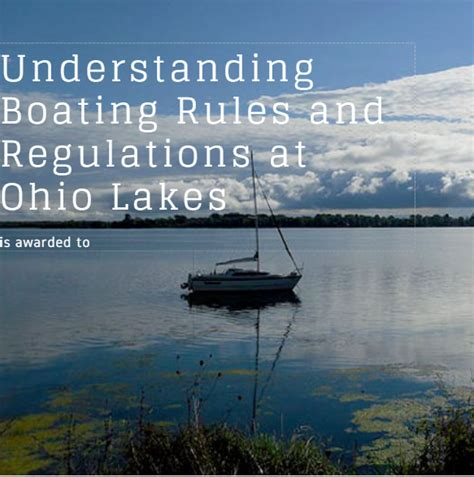 boating rules understanding boating rules at ohio lakes
