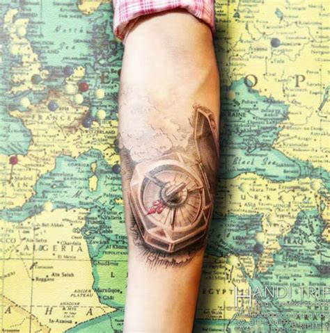 selected compass tattoos   parryzcom