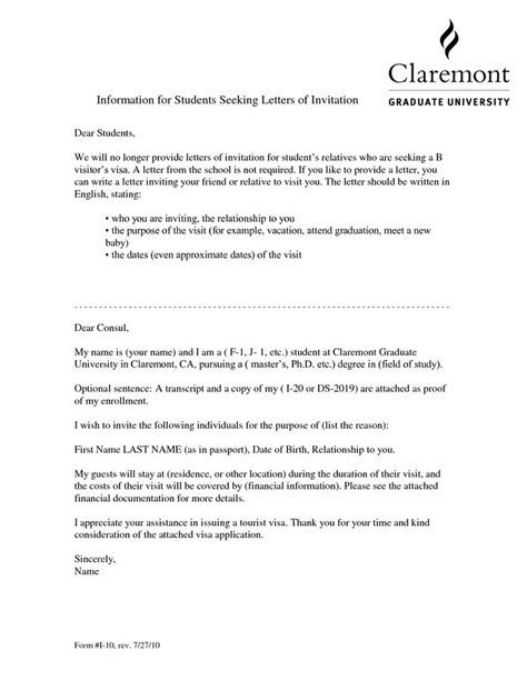 Letter Of Introduction Canada Visa Visa Invitation Letter For Friendvisa Invitation Letter To A Friend Exle Application Letter