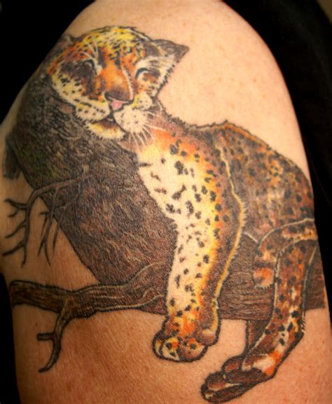 cheetah tattoos leopard tattoos