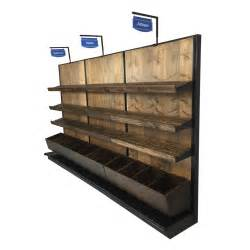 Bakery Display Rack by Bread Display Rack Wood Wall Gondola Unit Dgs Retail