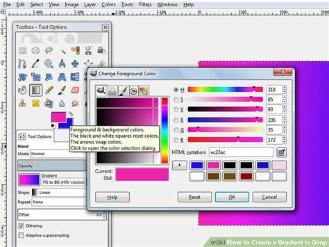 change pattern color gimp how to create a gradient in gimp 8 steps with pictures