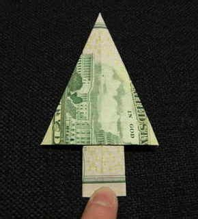 how to fold paper money into christmas trees 1000 images about gifts made out of money on dollar bills money origami and graduation
