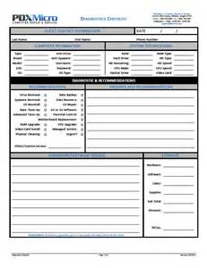 Computer Checklist Template best photos of computer repair form template dental