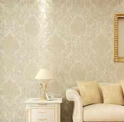 Glitter Wallpaper For Bedroom Aliexpress Com Buy Non Woven Metallic Wall Paper Golden