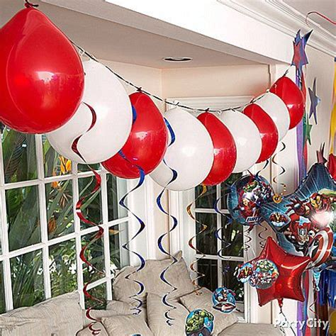 super cool balloon garland honoring  avengers