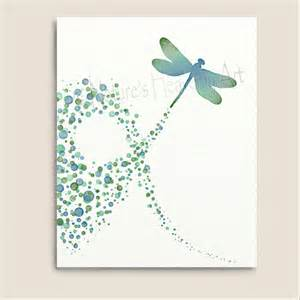 Dragonfly Wall Decor by Turquoise Wall Decor Dragonfly Print 8 X 10 Polka Dot
