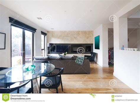 Modern Dining Table And Open Plan Living Room In Australia Dining Table In Living Room