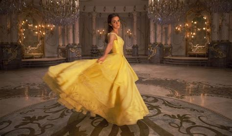emma s belle s yellow gown from beauty and the beast a belle s iconic yellow dress got a serious makeover in