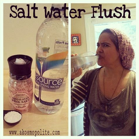 Salt Water Cleanse Detox by Salt Water Flush Colon Cleanse Experience