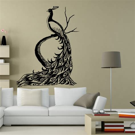 peacock wall sticker wall decals peacock by artollo