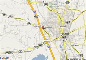 map of valdosta map of rodeway inn valdosta valdosta