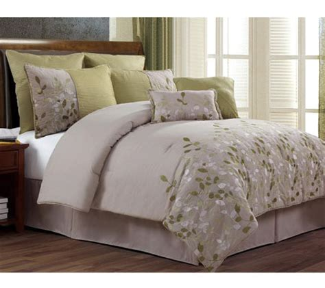 qvc bedding comforter sets horizon 8 piece california king bedding set qvc com