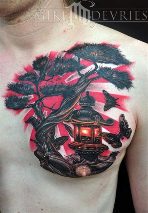 japanese rising sun tattoo ink