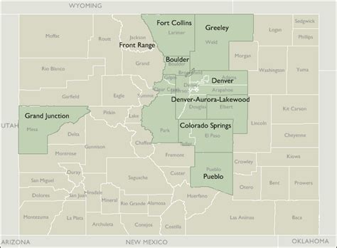 area code map colorado metro area zip code maps of colorado