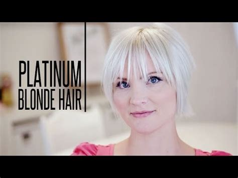 blonde hairstyles youtube how to color platinum blonde hair youtube