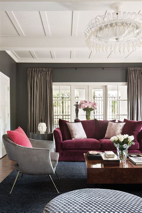 Gray And Burgundy Living Room dressingroomsinteriors stylish chic interior design