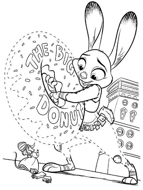 imagenes para dibujar zootopia dibujos para imprimir y colorear de la pelicula de zootopia
