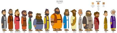 How To Decorate Studio character designs for quot what s in the bible quot