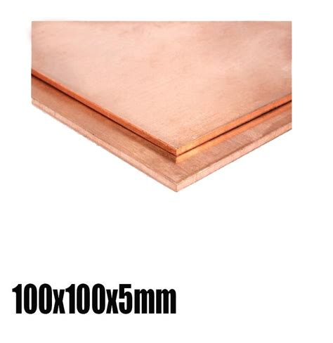 heat sink sheet 100x100x5mm copper block heat sink plate sheet home diy