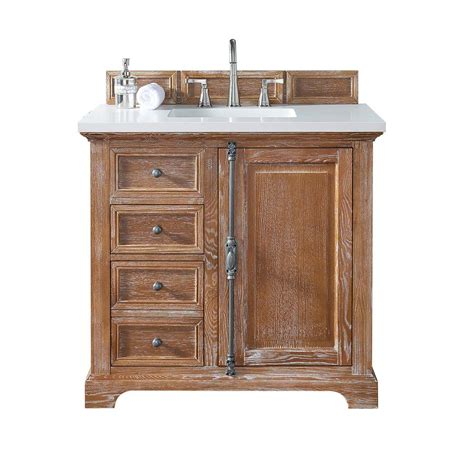 Martin Vanity by Martin Signature Vanities Providence 36 In W Single Vanity In Driftwood With Quartz